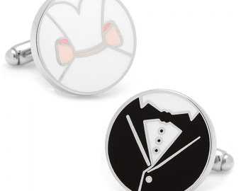 Here Comes the Bride and Groom Wedding Cufflinks Great for Weddings I Love You Be Mine Marriage Cuff Links Comes with Gift Box