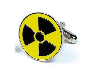 Radioactive Symbol Cufflinks Famous Signs Themed Cufflinks Cuff Links White Elephant Gifts