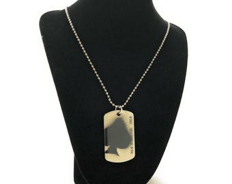 Dog Tag Kill Tags Necklace with Dog Tag Jungle Raiders Super Cool Ghost Squadron Elite Team First Patrol Unit vintage jewelry