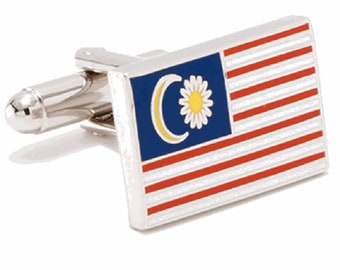Malaysia Flag Cufflinks Cuff Links