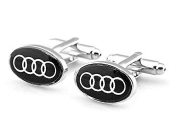 Audi automotive Luxury car logo  Cufflinks Cuff Links
