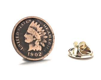 Enamel Pin Indian Head Tie Tack Lapel Pin Suit Enamel Coin Money Trade Finance United States Native American Head Penny Indian Head Penny