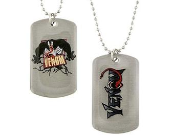 Dog Tag RMarvel Comics Venom Action Spiderman Villain Dog Tag Necklace Marvel Comics vintage jewelry