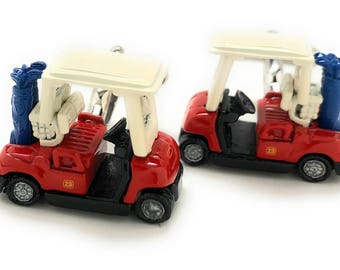 Golf Cart Cufflinks Unique Super Fun 3D  Enamel Golf Cart Cuff Links Corporate Gifts Tournament Comes with Gift Box