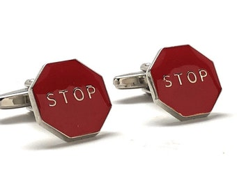 Red Stop Sign Pin Novelty Lapel pin Fun Cool Guy Gift tie tack