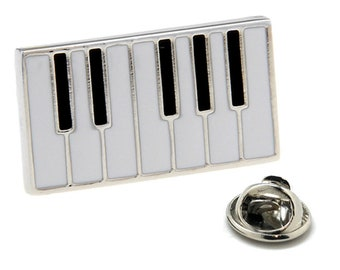 Enamel Pin Piano Keys Music Lapel Pin White and Black Enamel Keyboard Cool Concert Harmony Comes with Gift Box