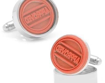 Working Rubber Stamp Cufflinks Approved Stamp Real Stamp says Approved Office Executive Cuff Links Comes with Stamp Pad and Gift Box