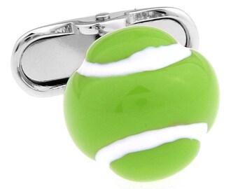 Wimbledon Tennis 3D Ball Court US Open Cufflinks Cuff Links