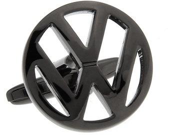 VW Cufflinks Volkswagen Gun Metal Logo Car Automobile Beetle Bug Car Lover