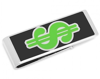 I'll Pay Cash Dollar Signs Cash on the Table Fun Money Clip
