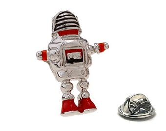 Retro Robot Lapel Pin, Enamel Pin