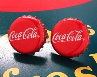 Coke Cufflinks Coca Cola Soda Drink Bottle Cap Cuff Links