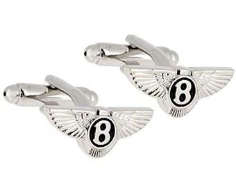 Bentley Luxury Car Logo Automobile Cufflinks Cuff Links