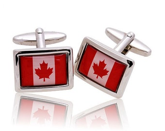 The Nation of Canada Cufflinks Canadian Flag Cufflinks Canadian Canada Flag Cufflinks Montreal Toronto Canada Cuff Links Ottawa Cuff Links