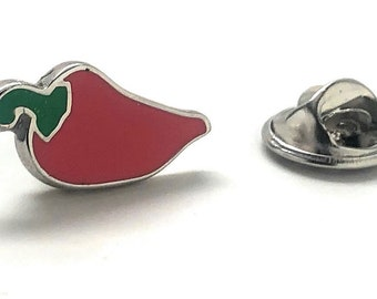 Enamel Pin Hot Red Chili Pepper Lapel Pin Tie Tack Formal Wear White Elephant Gifts