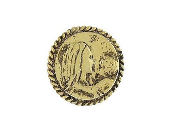 Enamel Pin Gold Mary with Child Faith Pin Tie Tack Comes with Gift Box