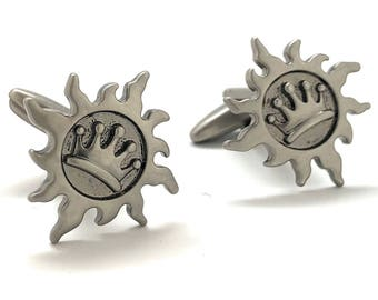 The Sun King Cufflinks Never Set on a Royal Crown Empire Cuff Links Comes with Gift Box