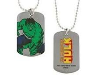 Dog Tag Marvel Comics The Incredible Hulk Angry Dog Tag Necklacevintage jewelry
