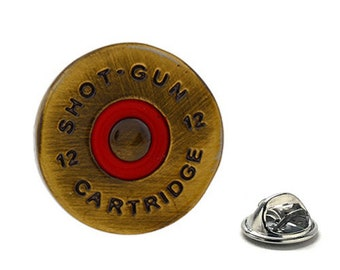12 Gauge Shotgun Lapel Pin, Enamel Pin Bird hunting