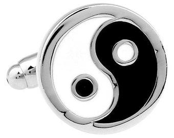 Eastern Thought Religion and Zen Yin Yang Cufflinks Cuff Links