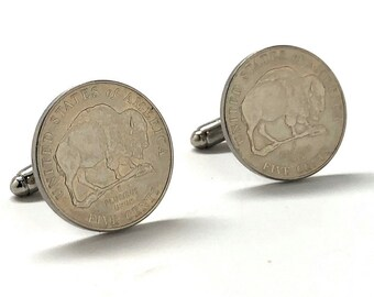 Birth Year US Buffalo Nickel Cufflinks uncirculated 2005 Specially United States Government Issue Coins Rare Coins Perfect Condition