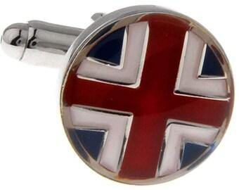 British Flag Cufflinks England Union Jack UK London Cuff Links