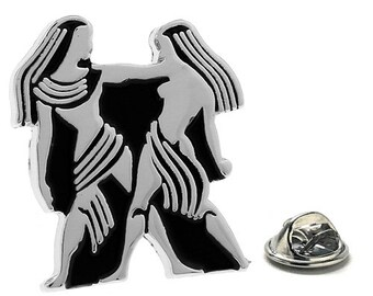Gemini Zodiac Enamel Pin Astrology Gifts, Lapel Pin
