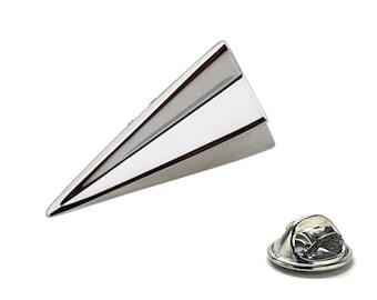 Paper Airplane Enamel Pin, Silver