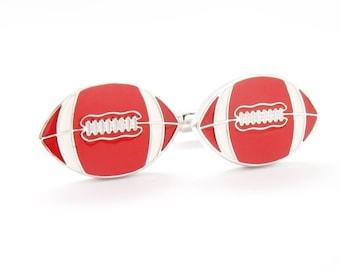 Football Cufflinks Themed Executive Cufflinks Cuff Links Sports Quarterback Retro Jewelry Fathers Day Cool Guy Gifts Cool Cufflinks