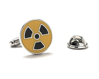 Radioactive Symbol Pin Famous Signs Themed Cufflinks Cuff Links White Elephant Gifts