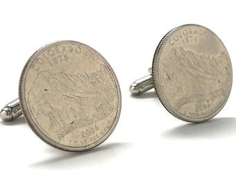 Birth Year Birth Year Colorado State Quarter Cufflinks Rocky Mountain Coin Jewelry Money Currency Finance Accountant Cuff Links Designer