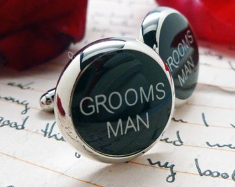 Grooms Man Cufflinks Wedding Jewelry for Men Gift for Groom Cuff Links Great for Weddings Marriage for the Friends Boys with gift Box