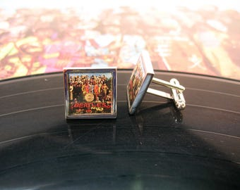 Cufflinks Album Artwork Twenty Years ago Today Cuff Links Beatles Greatest Best-Selling Band in History Comes Billy Shears with a Gift Box