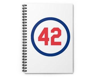 Spiral Notebook - Ruled Line Number Forty Two Honoring Baseball's Barrier Breaker baseball gift Boyfriend Gift Gift for dad Gift for Boss