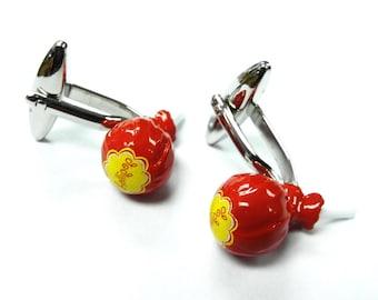Candy Cufflinks Lollipop on a Stick Find the Center Fun Sweets Cufflinks Cuff Links