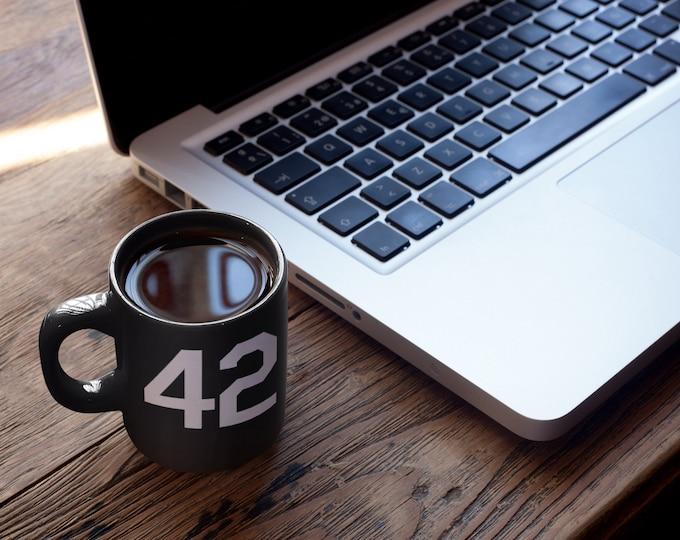 Featured listing image: The Ultimate Coffee Cup Black mug 11oz Baseball Mug Honoring Famous Number 42