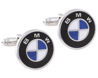 BMW Car Logo Luxury Automobile Cufflinks Cuff Links