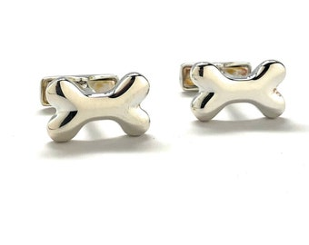 Sterling Silver Bone cufflinks .925 purity