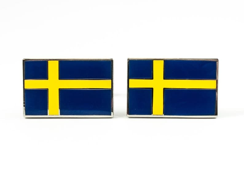 Swedish Flag Cufflinks