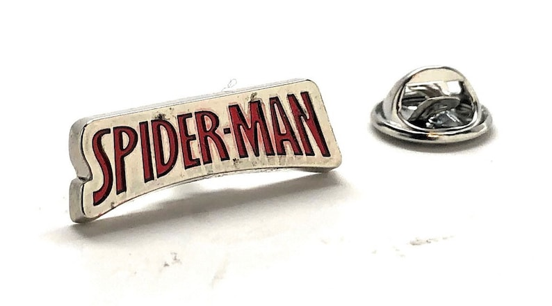 Enamel Pin Spider Man Logo Lapel Pin Super Hero Tie Tack Spiderman Husband Gifts for Dad Gifts for Him Spider-Man