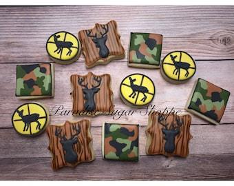 dc206e7693 Hunting Camo Decorated MINI Cookies - 3 Dozen MINIS