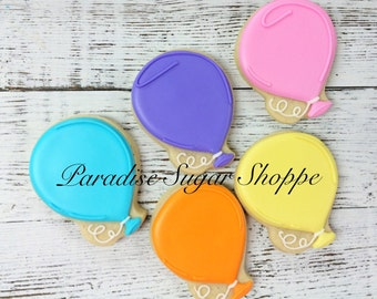 One Dozen Balloon Cookies WO name