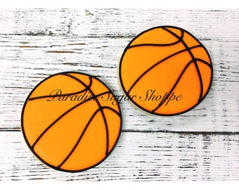 Basketball Decorated Cookies