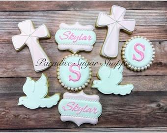 One dozen Baptism Communion cookies