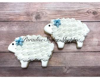 One Dozen Lamb / Sheep Cookies