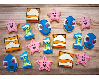 Dory Nemo Decorated MINI Cookies - 3 Dozen MINI cookies