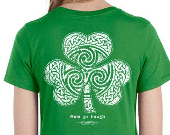St. Patrick's Day Shirt - Ready to Ship - Celtic Clover Shirt - Men's and Ladies Sizes - Green Shirt - Celtic - Shamrock - Irish - St. Patty
