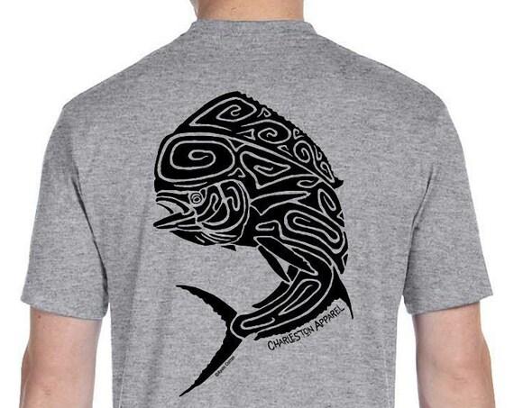 Fish Shirt Mahi Mahi Sport Fishing Shirt Men's and Ladies Sizes - Lucky Fishing Shirt - Father's Day Gift