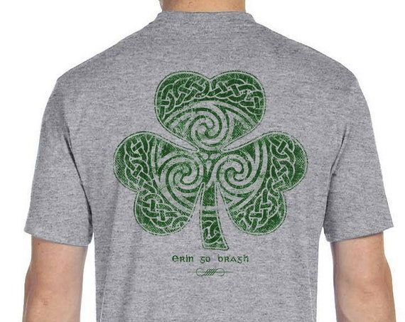 St. Patrick's Day Shirt - Ready to Ship - Celtic Clover Shamrock - Men's and Ladies Sizes - Celtic - Clover - Shamrock - Irish Shirt