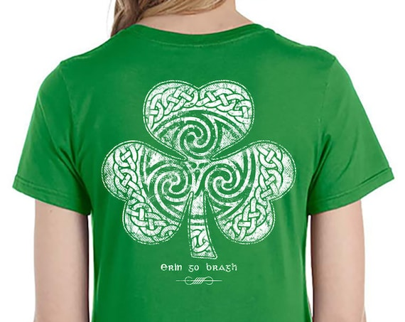 St. Patrick's Day Shirt - Ready to Ship - Celtic Clover Shirt - Men's and Ladies Sizes - Lucky Shirt - Celtic - Shamrock - Irish - St. Patty
